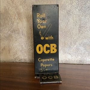 Vintage Metal OCB Cigarette Paper Dispenser